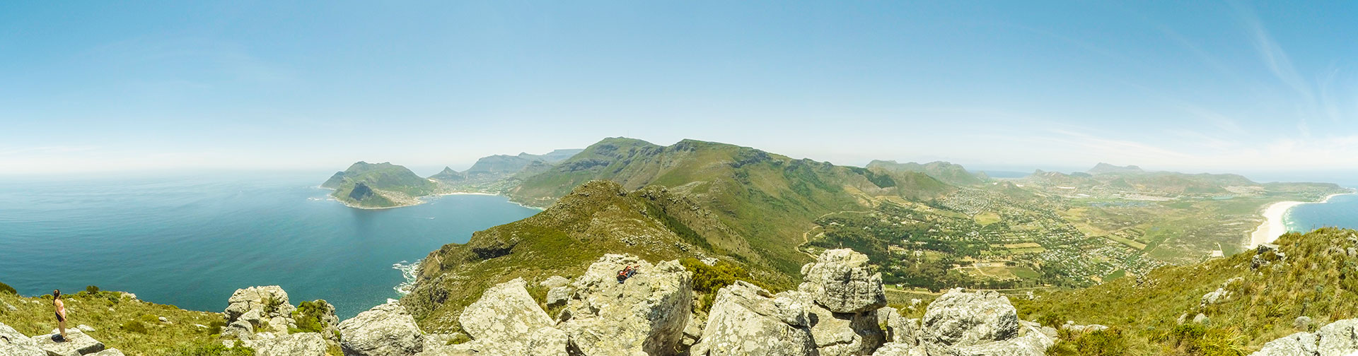 The spectacular 360 degree view from Chapman's Peak.  Credit: Cameron Watson