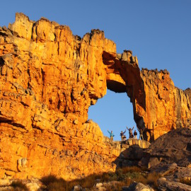 Sleeping under a rock rainbow: A night at the Wolfberg Arch